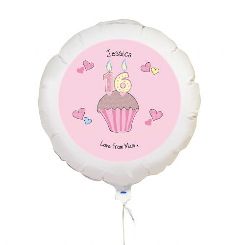 Personalised Cupcake Numbers Balloon